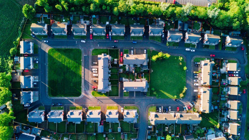 アメリカの郊外住宅