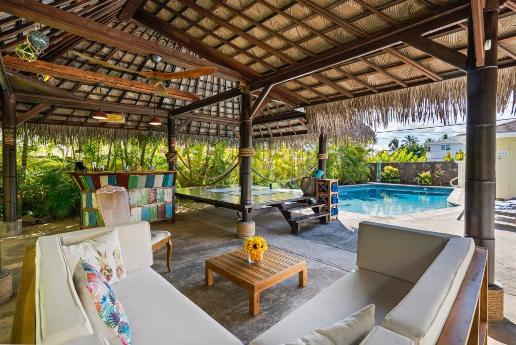 Baliのvillaリビングルーム